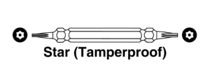 Star Tamperproof Bit